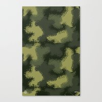 MPat Camouflage Pattern Canvas Print