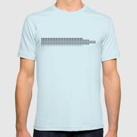 Guitar III Mens Fitted Tee Light Blue SMALL