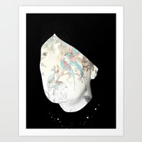 A Painted Face Art Print