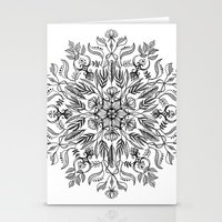 Thrive - Monochrome Mandala Stationery Cards