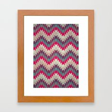 Chevron pattern_purple, blue and pink Framed Art Print