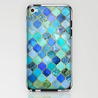 Cobalt Blue, Aqua & Gold… iPhone & iPod Skin