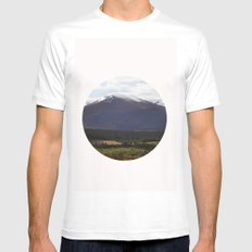highlands White SMALL Mens Fitted Tee