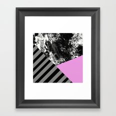 Geometric Abstract In Bl… Framed Art Print