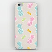Colorful Pineapples iPhone & iPod Skin