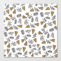 Burgers Pizza And Fries  Canvas Print