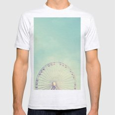 Ferris Wheel - Round and Round Mens Fitted Tee Ash Grey SMALL