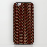 Hexagon Pattern In Red iPhone & iPod Skin