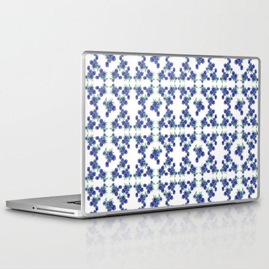 Violet Flowers Pattern Laptop & iPad Skin