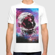 LOOK UP White Mens Fitted Tee SMALL