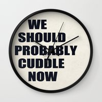 We Should Probably Cuddl… Wall Clock