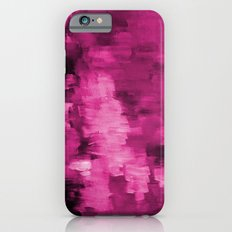 Paint 4 abstract minimal modern art painting canvas affordable art passion pink urban decor iPhone 6s Slim Case