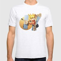 Skin Deep | Collage Mens Fitted Tee Ash Grey SMALL