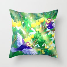 The seasons | Summer birds Throw Pillow