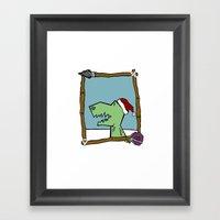 Dino Santa Framed Art Print
