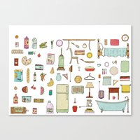 Groceries and Domestic Shit Canvas Print