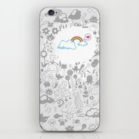 A Rainbow In My Heart iPhone & iPod Skin