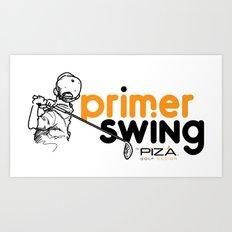 Primer Swing by Piza Golf Design Art Print