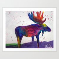 Mooza Moose Art Print