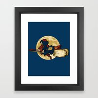 WIZARDS LOVE WITCHES Framed Art Print