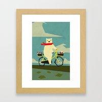 Yeti Taking A Ride Framed Art Print