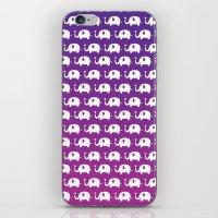 Elephants In Love (Purple) iPhone & iPod Skin