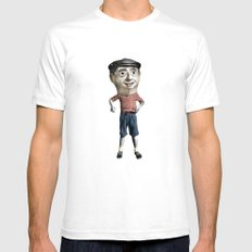 capgròs SMALL White Mens Fitted Tee