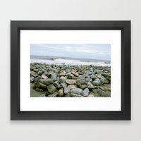 the wind and the waves Framed Art Print