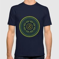Ayoga Mens Fitted Tee Navy SMALL