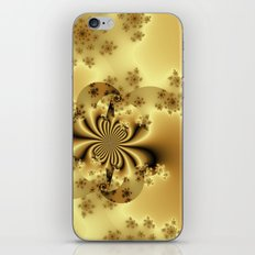 Silky Golden Fractal iPhone & iPod Skin