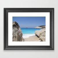 Greece - Lefkada Framed Art Print