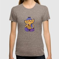 Ganesha Womens Fitted Tee Tri-Coffee SMALL