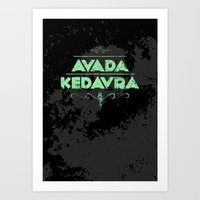 Harry Potter Curses: Ava… Art Print