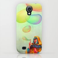 Galaxy S4 Cases featuring Bubbles of Color by loish