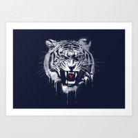 Melting Tiger Art Print