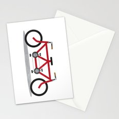 Broken Teamwork Tandem Bicycle Stationery Cards