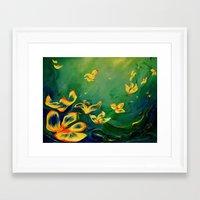 FANTASY WORLD Framed Art Print