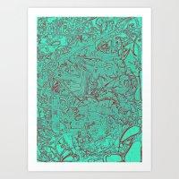 Aumcolored Art Print