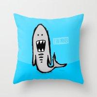 I Eat Pirates Throw Pillow