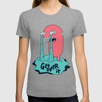 Get Over It Womens Fitted Tee Tri-Grey SMALL