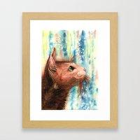 Brown kitty Framed Art Print