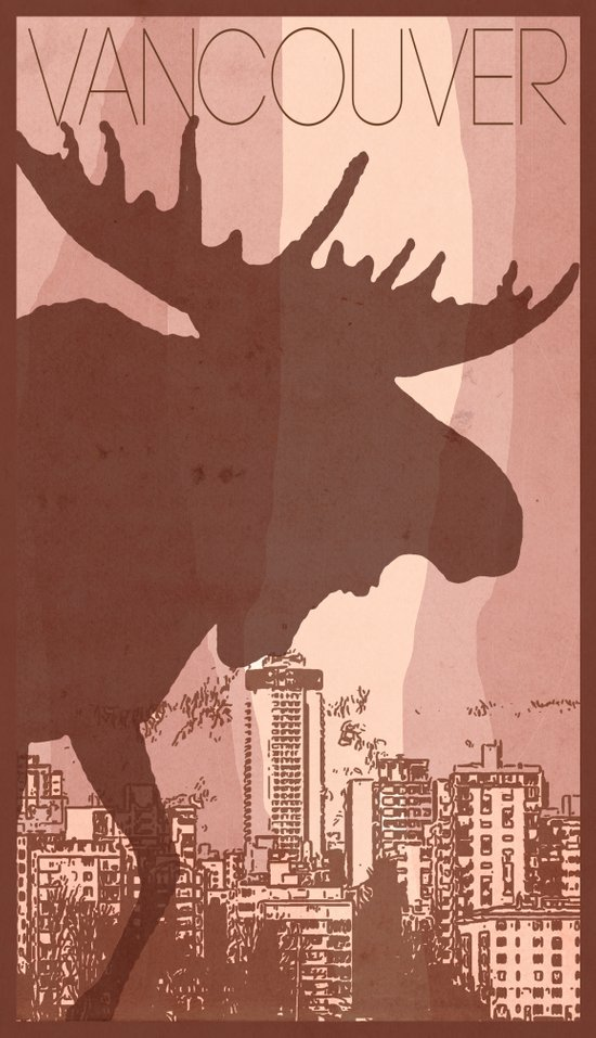 Every City Has Its Creature -Vancouver  Art Print
