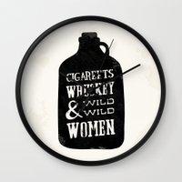 Cigareets & whuskey Wall Clock
