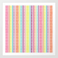 Textured Stripes Art Print