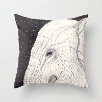 Animal Moments: Elephant Throw Pillow