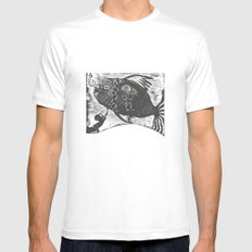 Hungry Fish Mens Fitted Tee White SMALL