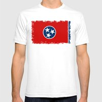 State flag of Tennessee, HQ image Mens Fitted Tee White SMALL