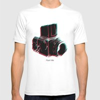Flash Me Mens Fitted Tee White SMALL