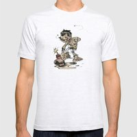 How To Trick A Zombie Mens Fitted Tee Ash Grey SMALL