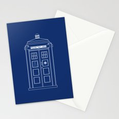 TARDIS Blueprint - Doctor Who Stationery Cards